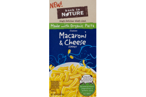 Back to Nature Cheddar Macaroni & Cheese Dinner