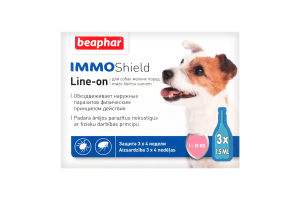 Капли антипаразит-ные с диметиконом (IMMO SHIELD) д/собак 1-15 кг (3 пип.)