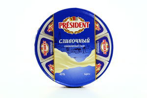 Сыр 45% плавленый сливочный President к/у 140г