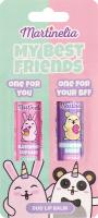 Бальзам для губ для дітей від 5років №30480 My best friends Martinelia 2шт