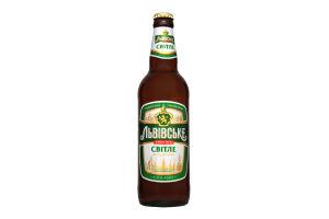 Пиво 0,5л 3,7% светлое Львовское ст/б