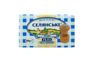 Масло 72.5% солодковершкове солоне Селянське м/у 200г