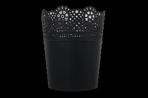 Горшок д/цвет Prosperplast Lace круг антрацит160мм