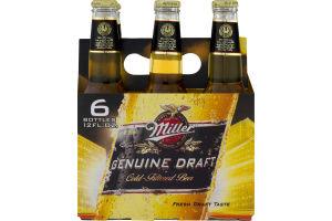 Miller Genuine Draft Cold-Filtered Beer - 6 PK