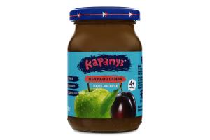 Пюре для дітей від 4міс Яблуко і слива Карапуз с/б 170г