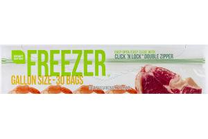 Smart Sense Freezer Bags Gallon Size - 30 CT