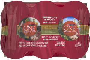 Purina One Smartblend Tender Cuts In Gravy Adult Dog Food Variety Pack - 6 PK