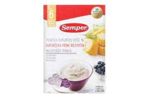 Каша молочная кукурузная с черникой для детей от 6-ти месяцев Semper к/у 250г