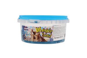 Набір для творчості блакитного кольору з ароматом чорниці для дітей від 3років №370-10 Magic Sand Strateg 1шт