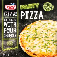 Піца заморожена з 4 сортами сиру Party Pizza Vici к/у 350г