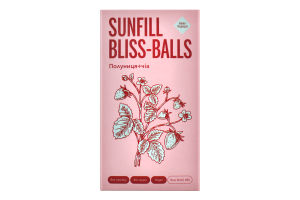 Конфеты Клубника+чиа Bliss-balls SunFill к/у 135г