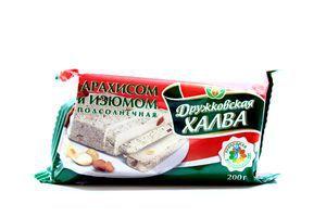 Халва Дружковка з арахісом та родзинками 200г х20