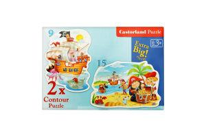 Пазл для дітей від 3років Contour Puzzle Castorland 24ел