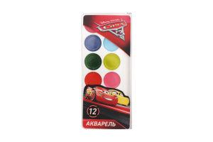 Фарби акварельні Disney Pixar Cars 12кол. б/п арт.Ц630021У