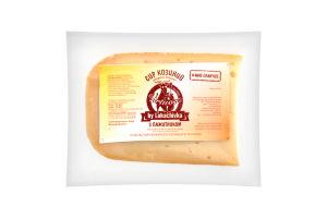 """сир з козиного непастеризованого молока з пажитником ТМ """"VIRTUOSO by Lukachivka"""" 50% жиру в сухій речовині, природнього визрівання від 1 місяця; кг"""