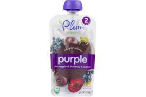 Plum Organics Purple Plum, Eggplant, Blueberry & Sorghum Organic Baby Food Stage 2
