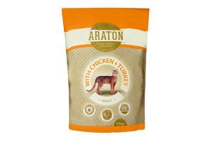 Корм для котов Araton Adult chicken&turkey