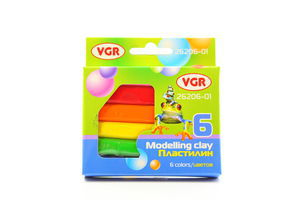 Пластилін VGR 6 кольорів