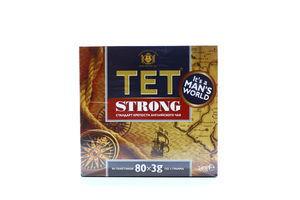 Чай TET Strong чорний з байховий дрібний 80*3г х20