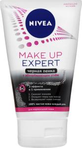 Пінка чорна для вмивання 3в1 Make up expert Nivea 100мл