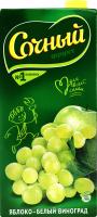 Нектар пастеризований Яблуко-білий виноград Сочный т/п 1.95л