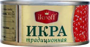 Икра горбуши Традиционная Ikroff ж/б 95г