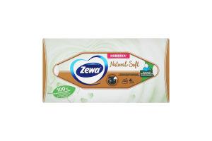Серветки паперові косметичні Natural Soft Zewa 80шт