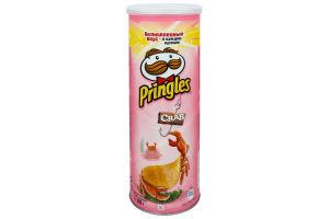 Чипсы картофельные со вкусом краба Pringles туб 165г