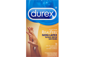 Durex RealFeel Non-Latex Condoms - 10 CT