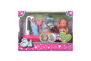 Кукла для детей от 3-х лет №5733094 Dog Bath Evi love Simba 1шт