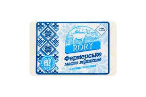 Масло сливочное 82.5% из козьего молока Фермерское Rory м/у 0.15кг