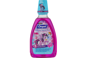 Orajel Anticavity Fluoride Rinse Alcohol & Sugar Free Bubble Burst