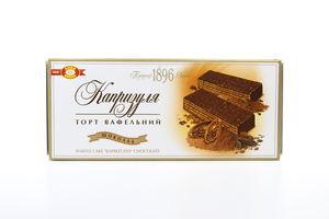 Торт ХБФ вафельний Капризуля шоколад 260г х10