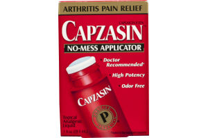 Capzasin Arthritis Pain Relief Topical Analgesic Liquid No-Mess Applicator