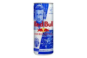 Напиток энергетический безалкогольный сильногазированный с таурином Energy drink Red Bull ж/б 250мл
