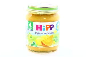 Пюре для детей от 4мес Тыква с картофелем Hipp с/б 125г