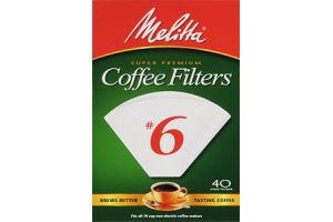 Melitta Super Premium Coffee Filters #6 - 40 CT