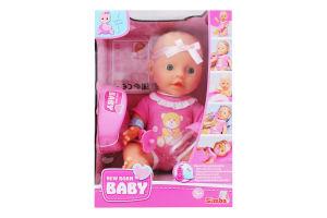 Пупс со свидетельством о рождении и аксессуарами для детей от 3лет №5030069 New Born Baby Simba 1шт