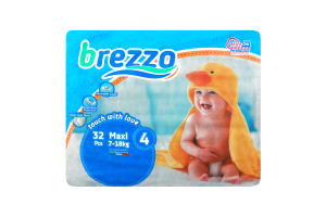 Подгузники детские одноразовые 4 Maxi Brezzo 32шт