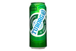 Пиво 0.5л 4.6% светлое Tuborg Green ж/б