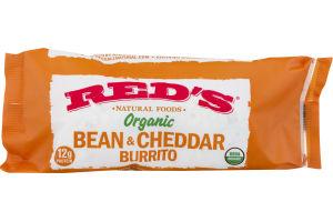 Red's Organic Bean & Cheddar Burrito