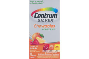 Centrum Silver Multivitamin/Multimineral Chewables Adults 50+ Citrus Berry - 60 CT