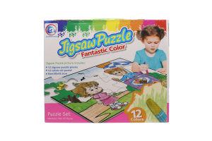 Пазл-раскраска Jigsaw Puzzle Дети 12эл 132082-JP