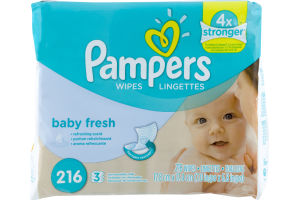 Pampers Wipes Baby Fresh - 216 CT