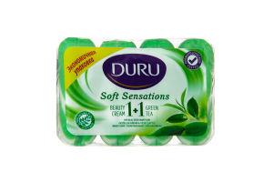 Мыло туалетное Экстракт зеленого чая+крем 1+1 Duru 4x90г