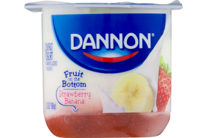 Dannon Fruit on the Bottom Lowfat Yogurt Stawberry Banana