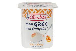 Десерт молочний з медом Mon Grec Elle&Vire ст 125г