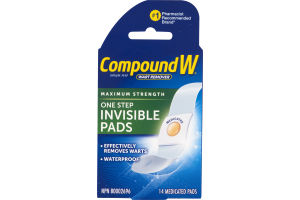(CN) Compound W Puissance Maximum Coussinets Invisibles Pour Usage En Une Etape, Compound W Maximum Strength One Step Invisible Pads