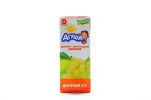 Cок яблочно-виноградный 0% осветленный TBA Base Агуша 0,2л