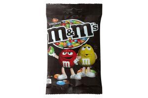 Драже с молочным шоколадом, покрытое хрустящей разноцветной глазурью M&M's м/у 90г